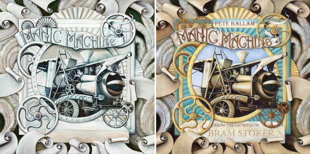 Artwork by Joy Brittain for the 'Manic Machine' album