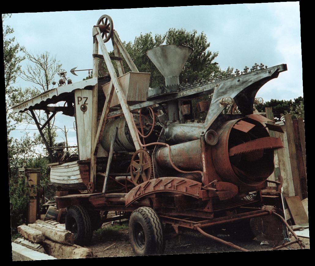 Stream punk sculpture The Excavator